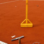 Tennislinierung Neuverlegung Tennisplatz - Werkzeug