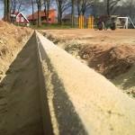 Sportplatzbau - Sanierung Fussballplatz - Einbau Kantensteine