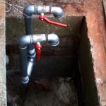 Tennisplatz- Bewässerung - Einbau - Wasserhähne und Beregnung mit Handsteuerung