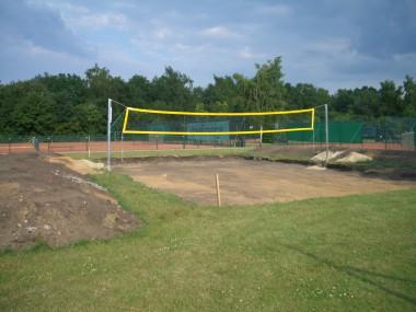 Sportplatzbau - Neubau Feld für Beachvolleyball