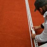 Tennislinierung Neuverlegung - Verlegung von Stecklinien