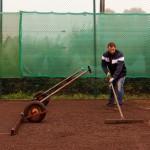 Sanierung Grundüberholung Tennisplatz - Einbau Lava 0-16mm als dynamische Schicht Tennisplatz