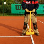 Tennislinierung Neuverlegung - Anpassung Eckpunkte der Tennislinien auf Platzniveau